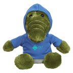 6 Inch Plush Allie Gator With Hoodie