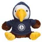 6 Inch Plush Liberty Eagle With Hoodie