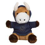 6 Inch Plush Brave Bull With Hoodie