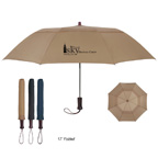 44in Arc Telescopic Folding Wood Handle Umbrella