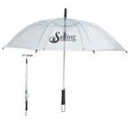 46 inch Arc Clear Umbrella
