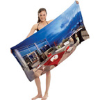 Full Color Velour Beach Towel