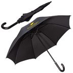 Leeman 48 Inch Executive Umbrella With Curved Faux Leather Handle