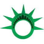 Statue of Liberty Foam Crown Visor